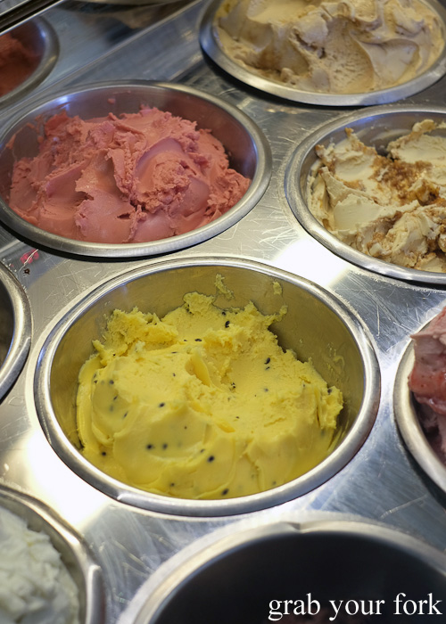 Passionfruit sorbet at Gelato Messina HQ, Rosebery