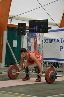 pesi Domenico Salzo si appresta a gareggiare