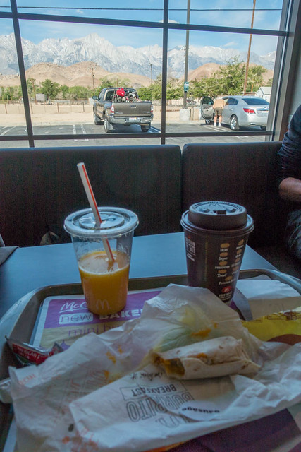 Egg McMuffin with Mt Whitney View