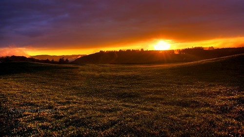 sunset field grass clouds forest germany cochem vapour kingfisherimages