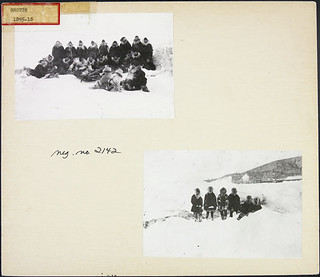 Fort Constantine detachment (now Forty Mile) on the Yukon River, 1895, first Mounted Police group in the Yukon / Détachement du Fort Constantine (maintenant Forty Mile) sur la rivière Yukon en 1895, premier groupe de la Police à cheval au Yukon