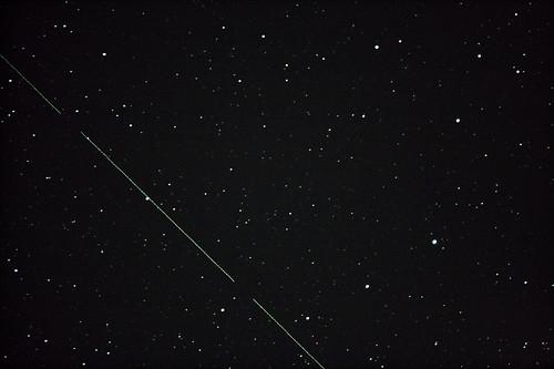 Corona Borealis with Satellite