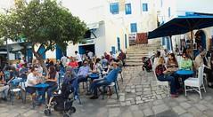 Café life on a Sunday afternoon, Tunis