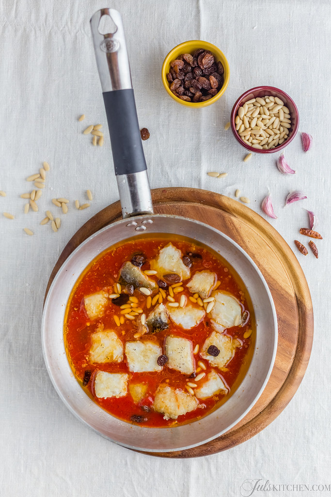 Sweet and sour salt cod