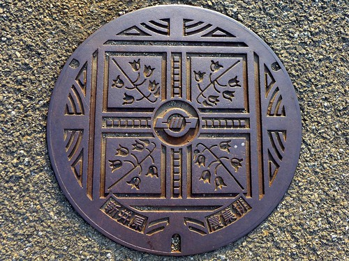Ashigawa Yamanashi, manhole cover (山梨県芦川村のマンホール)