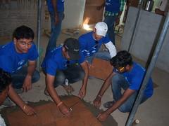 S&P CapitalIQ and Aadarana Hyderabad-India Renovation of om shanti nagarajan educational academy-Mayurinagar-Nizampetroad-School for underprivileged students