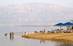 Ein Bokek Beach, the Dead Sea, Israel