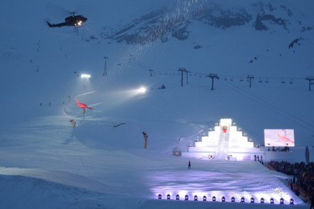 SNOW tour: Hannibal v Söldenu – show s vrtulníkem nad hlavou