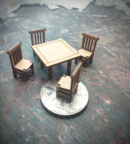 4mm scale table and chairs