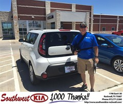Congratulations Janes on your #Kia #Soul from Angela Williams at Southwest KIA Rockwall!