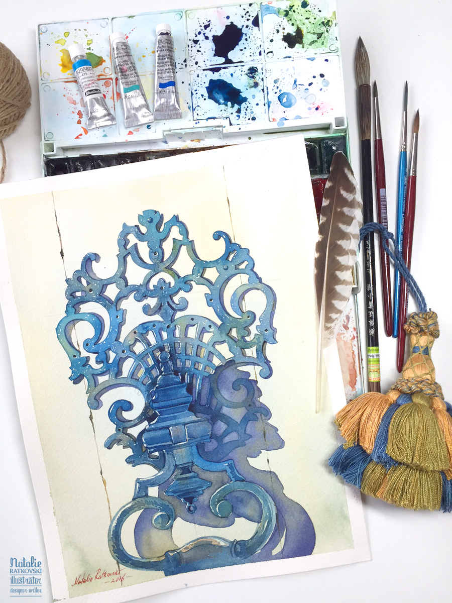 Blue collection: a door knocker
