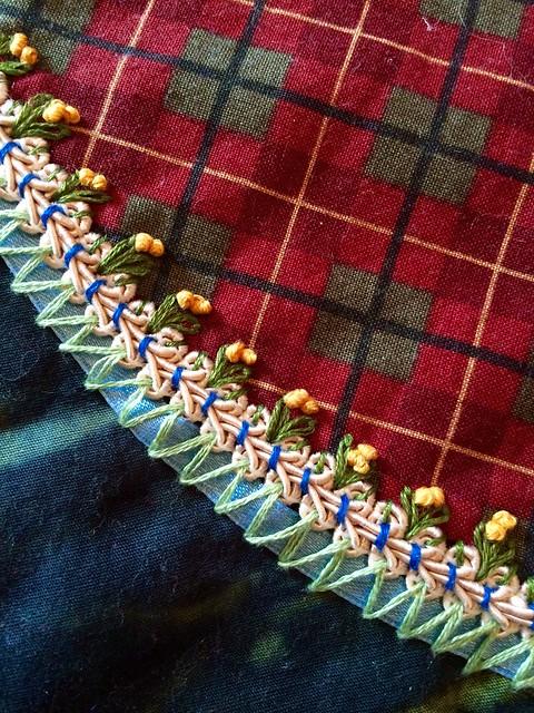 Bosnian Stitch, Couching, lazy Daisy, French Knot