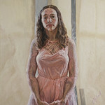 Ron Gerbrandt; Erica With Pink Dress; Oil on canvas; 36x24; 2014 -