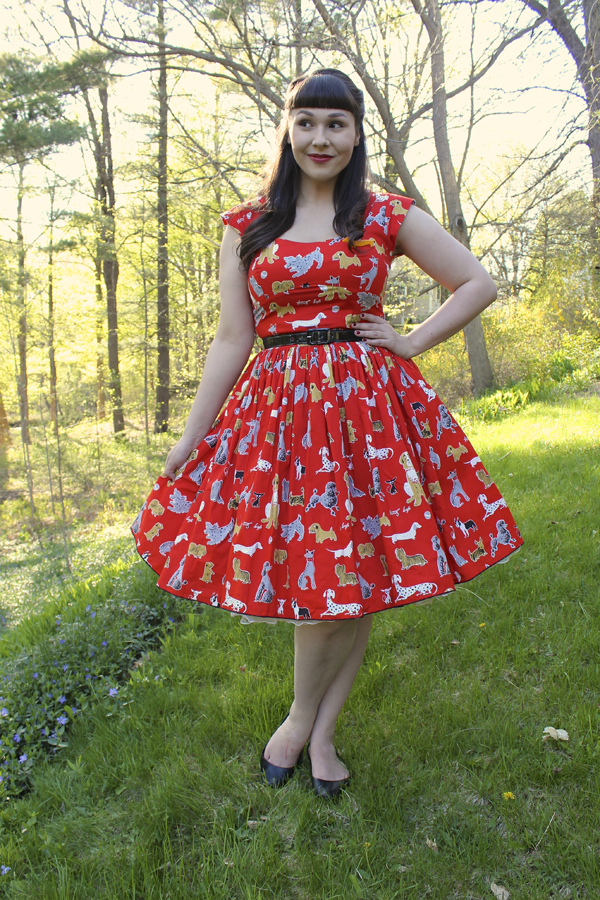 dog print dress