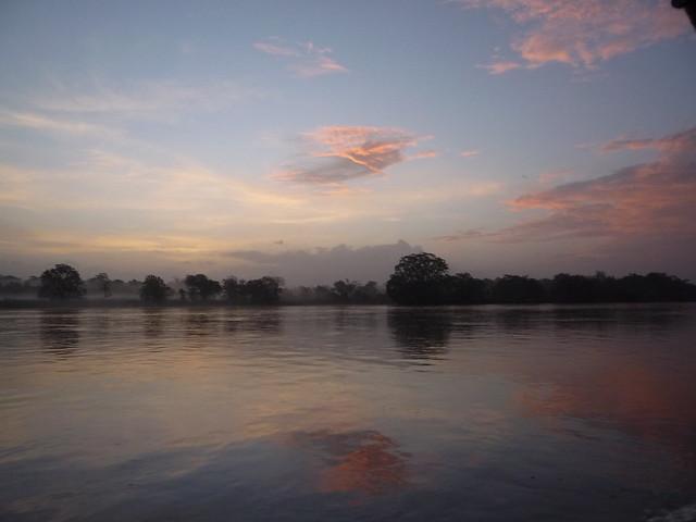 Sunrise over the Río San Juan