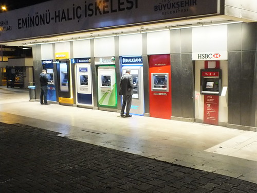 ATM-ek a kikötőben