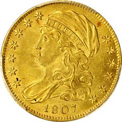 1807 Capped Bust Left Half Eagle obverse