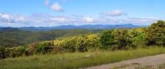 Panorama et vue sur les Cévennes, depuis le DFCI vers Brugaunède