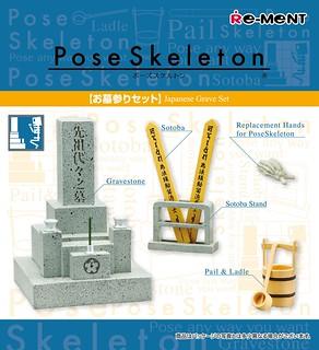 RE-MENT【療癒骷髏人配件包】Pose Skeleton 系列