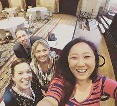 Dustin Bingaman, Jennifer Higgins, April Schmidt Barrios, Tina Jan at a great speaker event this morning! @dustin_bingaman @rejenniferh @abrella0429 #missioninn #riversideca