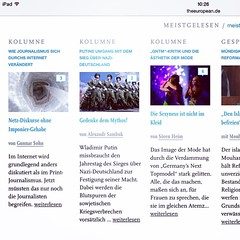 In dieser Woche The European-Tabellenführer :-) http://www.theeuropean.de/gunnar-sohn/10071-wie-journalismus-sich-durchs-internet-veraendert