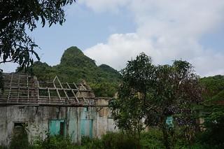 Old buildlings in Cat Ba National Park