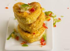 """""""Hearty"""" egg muffin breakfast"""