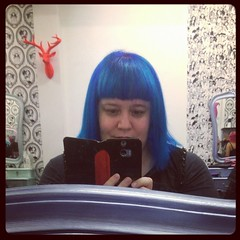 Blue again thanks to Alwyn and the team at Furr Hair in Newtown. :) #bluehair #blue #furrhair #furr