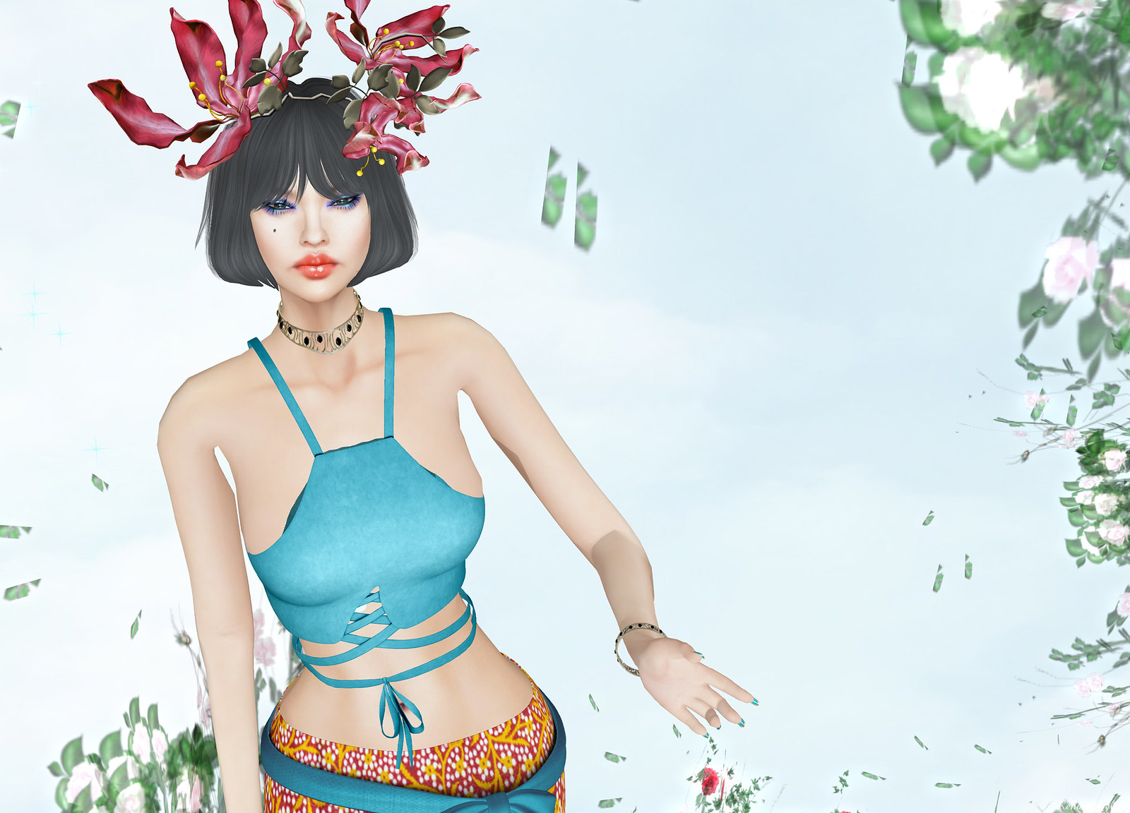 Prism - Lindy Boho Batik Skirt and Top
