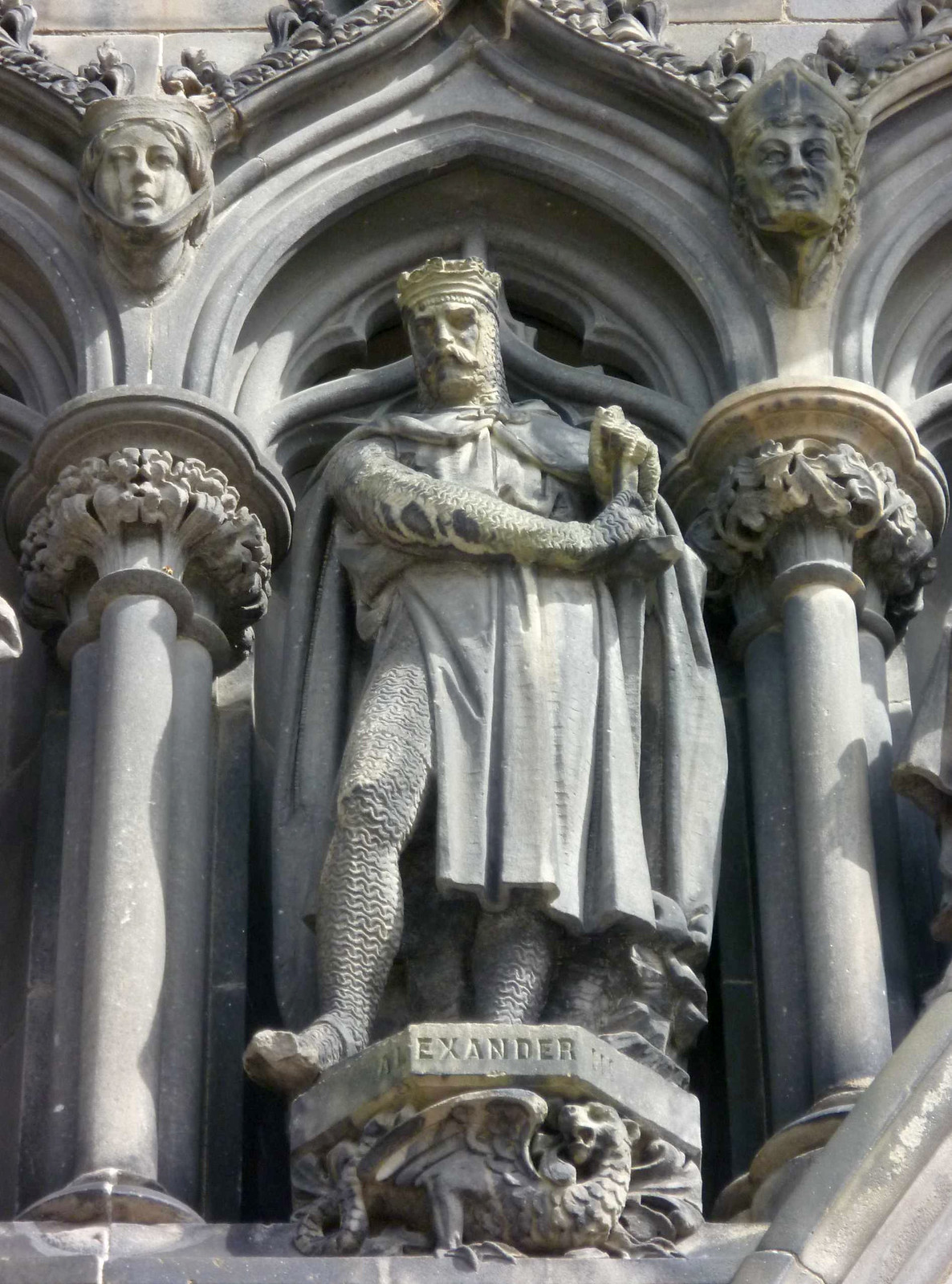 Alexander III of Scotland above the West door of St. Giles, Edinburgh