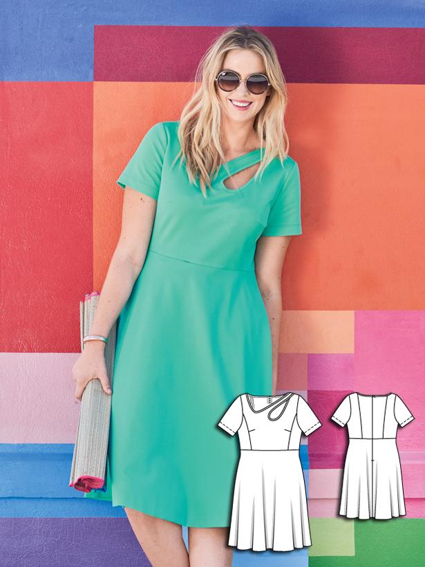 plus size tank dress sewing pattern 136-062016-2-B