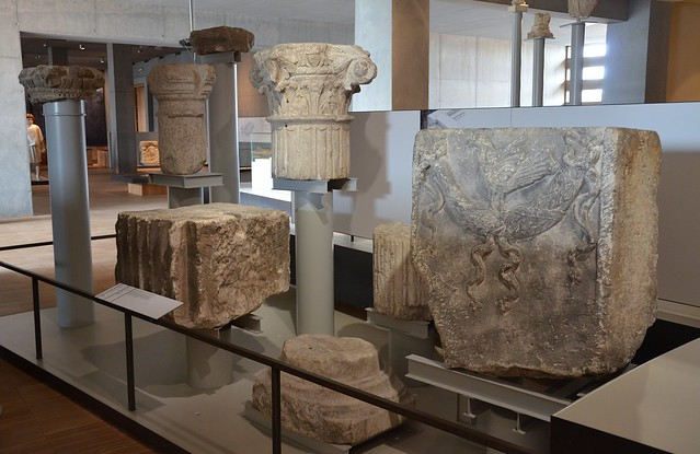 Fragments of architecture from monumental buildings of the Forum, Gallo-Roman Museum of Tongeren, Belgium