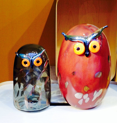 glass birds. Oiva Toikka: Owls