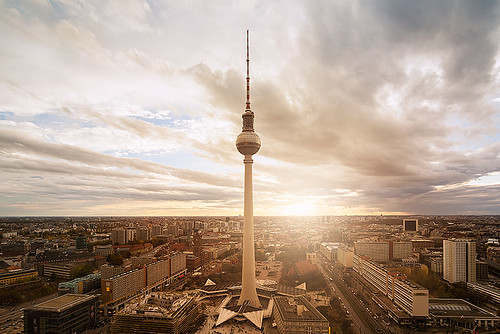 sunset urban panorama berlin tower skyline germany deutschland tv cityscape sonnenuntergang view dom panoramic fernsehturm marienkirche rathaus berliner panorámica berlín panoramablick