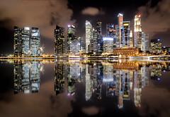 Singapore Skyline, Night