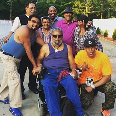 """Got up with my Father and only a """"couple"""" of his siblings lol. They call my pops """"Booty""""...that's his nickname haha. #fam #cookout #birthday #ppstwr #streetwear #fashion #igdaily #lovewhatyoudo #dmv #diy #MadeintheUSA #illest #creativity #classic #memoria"""
