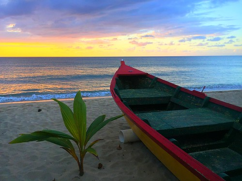 sunset beach boat aguadilla