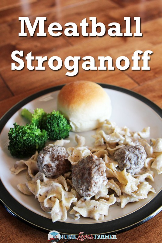 Meatball Stroganoff. A classic comfort food. With my meatball recipe, you don't even have to get your hands dirty! A quick 3-ingredient sauce and cooking some noodles make this recipe easy to cook.