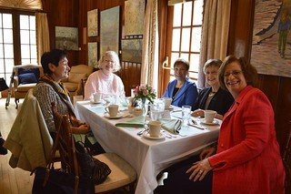 010_FundraiseApr2015-Angie Mariani, Mary Ellen Parry, Lorraine Haucke, Marlene Gordon, and Florence Begun