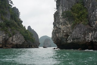 Narrow channels and tall rocks