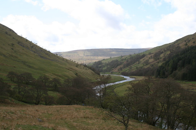 Looking down into Swaledale