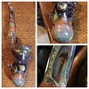 I think one is an early (1995/1996) @bobbadtram_stagram (Bob Badtram) non-standing Sherlock bubbler.  Including some early dichroic work. #olympiastoners  #toomuchdetail to share.