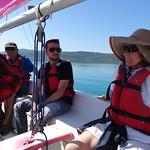 Goélette sur le lac de Sainte Croix