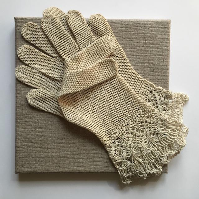 Handschuhe: Spitze, Häkelei