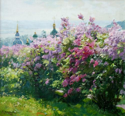 Vydubychi monastery at spring. Kyiv, Ukraine. N51
