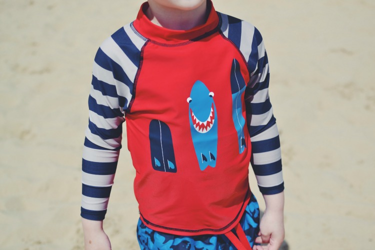 Frugi Family Swimwear Shark rash vest