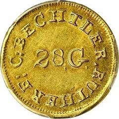 Bechtler $1. K-3. obverse