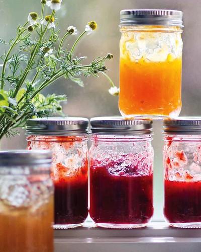 #Strawberry #rhubarb #jam. #Recipe on LCcooks.com.