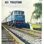 Mon, 2016-09-26 17:03 - Advert for AEI Traction, featuring AL1 (later class 81) E3001 posed on the WCML at Jodrell Bank, north of Goostrey station, Cheshire. Scanned from The Railway Gazette, issue dated 30 June 1961.