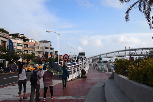 哨船頭里長認為應讓遊客以步行進入;攝影:李育琴。